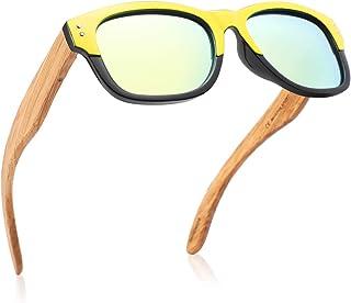 GreenTreen - Gafas de sol polarizadas para hombres y mujeres con patillas de madera, protección UV400