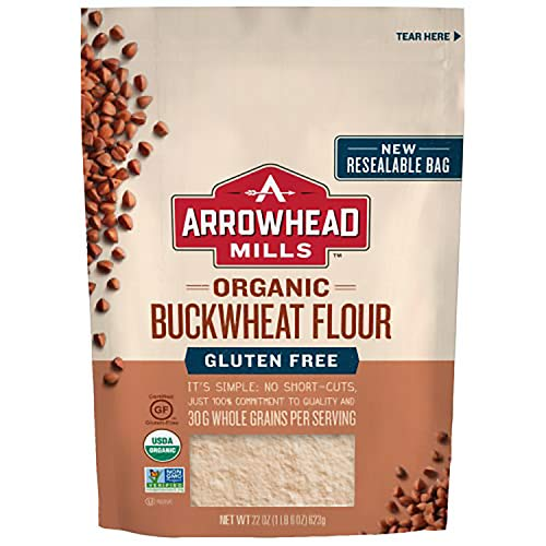 Arrowhead Mills Organic Buckwheat Flour, Gluten Free, 22 Ounce Bag (Pack of 6)