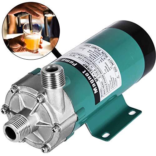 VEVOR Pompa per Birra MP-15RP Pompa Magnetica Pompa Pompa per Pozzi per Uso Alimentare Testata in Acciaio Inossidabile con Pompa Magnetica per Birra ad Alta Temperatura
