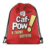 Hdadwy CAF Pow X Treme Caffeine Variant Mochila Deportiva Plegable Impermeable Bolsa de Gimnasio Saco Mochila con cordón