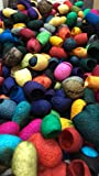 Hand Dyed Silk Cocoons, Silk Cut Cocoons, Mulberry Silk Fibers– Pack of 40