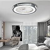 HHGM Creativa Moderna Plafoniera LED Ventilatore da soffitto a LED Ultra-Silenzioso con Lampada Ventilatore da Soffitto con Luce e Telecomando Adatto per Camera da Letto, Soggiorno, Ufficio