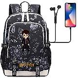 ANCHANG Mochila de dibujos animados de Harry, mochila de Harry Magic Potter, mochila de escuela primaria, mochila grande para viajes escolares 44CMX30CMX15CM Multicolor-05