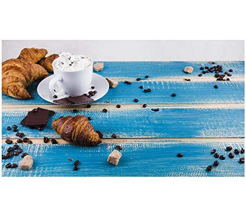 Melk chocolade en croissant 5D DIY diamant tekening ronde boor volledige diamant borduurwerk kruissteek door nummer plakken kunst schilderijen foto 40 cm.