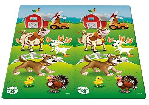Globo - Tappetino in polietilene espanso 180 x 150 x 1,5 cm, stampato su 2 lati, fattoria (05350), multicolore