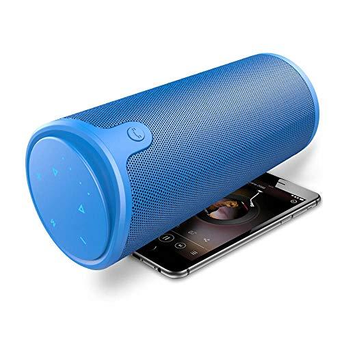 CHYSP 3D Stereo Bluetooth Lautsprecher Wireless-Subwoofer Spalte Tragbare Touch Control AUX TF-Karten-Wiedergabe freihändig mit Mic (Color : B)