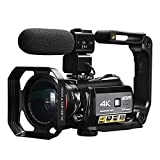 4K Camcorder, ORDRO AC3 Ultra HD Video Camera 1080P 60FPS WiFi Camera and IR Night Vision Camcorder 3.1'' IPS Touch Screen Digital Camcorders with Microphone Wide Angle Lens and Camera Holder