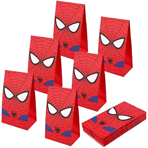 U&X Spider-man Party Bags Goodie bags for Kids Superhero Themed Party, Set...