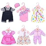 ebuddy 6 juegos de ropa para muñecas que incluyen vestido, disfraz, pelele y...