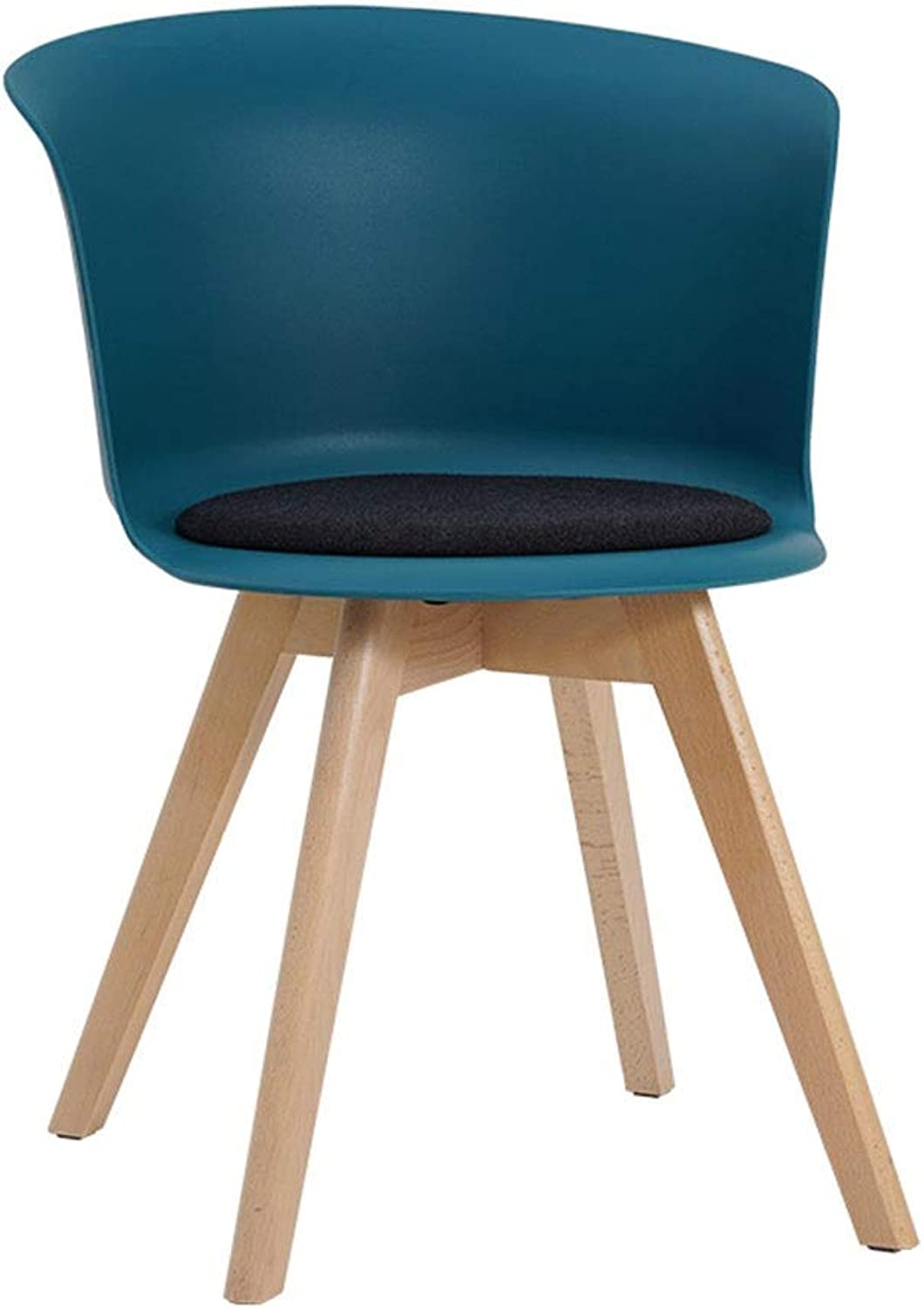 Dining Chair, with Backrest Sitting Cushion Plastic Solid Wood,Kitchen Lounge Chair Can Bear 150kg (color   F)