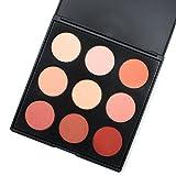 Miskos - Palette di fard con 9 colori tra cui nude, rosa e rosso, 15 g
