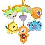 MOOKLIN ROAM Juguetes para bebés, Juguete de Animales Suaves y Bonitos, Cochecitos de Peluche de Desarrollo Temprano, Sonajero Colgantes de Cuna para 0, 3, 6, 9, 12 Meses (Jirafa)