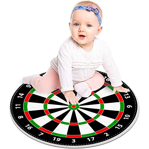Bennigiry - Juego de mesa de dardos para juegos de mesa redonda de área de suelo, alfombra suave para niños de estudio de sala de juegos o guardería (60 cm)