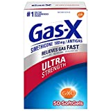 Gas-X Fast Gas Relief, Ultra Strength Softgels for Fast Gas and Bloating Relief, 50-Count Boxes
