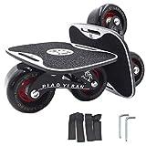 4代 ドリフトスケート ミニ スケボー 分体式 スケートボード ベルト付き LangBo 非発光タイプ  黒