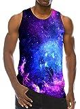 Loveternal Galaxy Tank Tops for Men Nebula Space Teens Funny 3D Print...