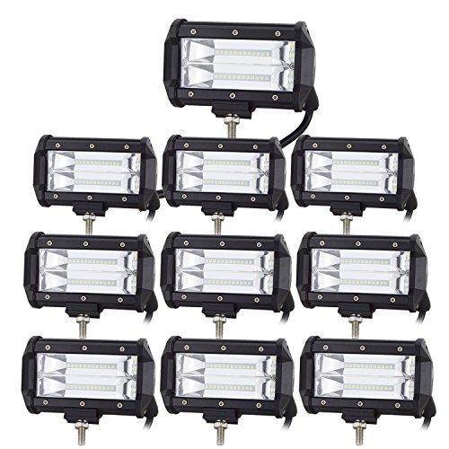 10 x 72 W LED barra de luz de trabajo 5 pulgadas...
