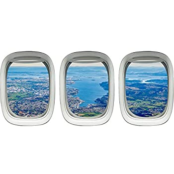 VWAQ PPW6 Airplane Window View Decals