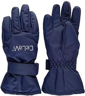 Navy, 1 CELAVI Unisex gepolsterte PU Kinderhandschuhe