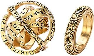 خاتم كرة الكرة الفلكية من جويل بيوتي للنساء والرجال طوي كوزميك فينجر خاتم زوجين من المجوهرات أفضل هدية للحبيب 8
