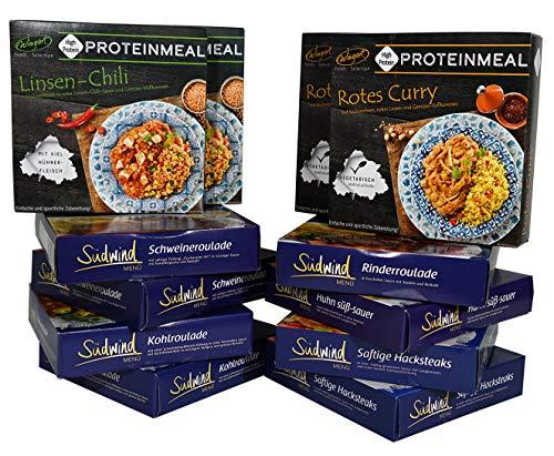 Spezialitätenpaket 11+1 gratis - verschiedene Fertiggerichte für die Mikrowelle - keine Versandkosten - Südwind Lebensmittel