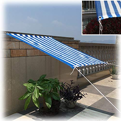 GZHENH Solar Sombra Paño,Plantas De Jardín Toldos Anti-UV A Prueba De Viento Multifuncional Valla De Escalera Cubierta para Coche, 14 Tamaños (Color : Blue, Size : 0.6x0.9m)