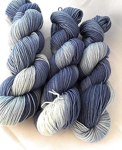 NaRoKnit Sockenwolle handgefärbt 100 g ca 420 m 75% Wolle/25% Polyamid - Navy Blue