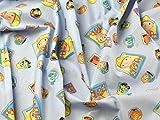 Bob der Baumeister Print Baumwolle Disney Stoff, blau,