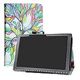 LFDZ Acer Iconia One 10 B3-A50 Custodia, Slim Ultra Pelle Sottile e Leggera Cover Case Custodia per 10.1' Acer Iconia One 10 B3-A50 Tablet,Love Tree