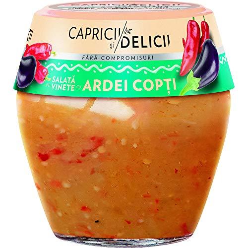 Traditional Rumänisch Auberginenkaviar mit gegrillten Paprikaschoten - CAPRICII SI DELICII - 500g