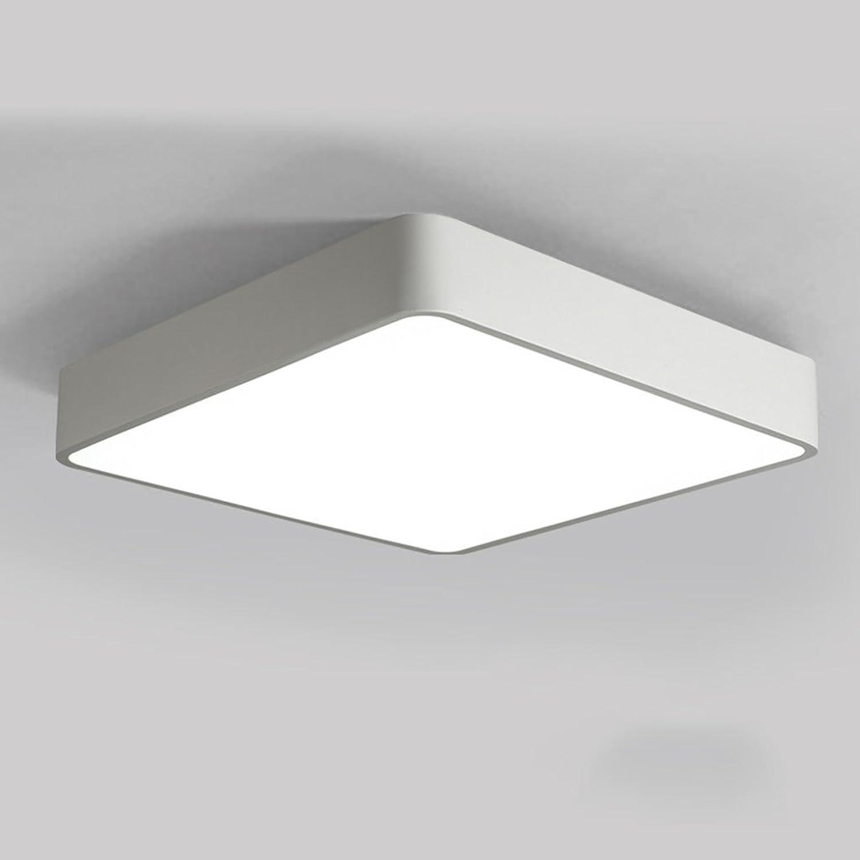 Plafonnier LED 24 W 40  40 CM 64 W 83  63 CM Moderne Salon Chambre Lumière étude Lecture Lumière Restaurant Allée Lumière Energy Star (Couleur   Lumière Blanche, Taille   Blanc-40  40cm)