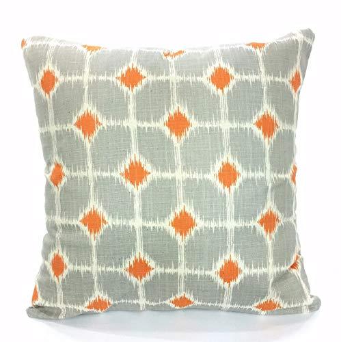 Thomas655 Fundas de Almohada Decorativas de Color Naranja y
