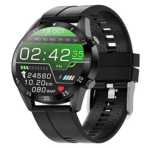 LKM SmartWatch Bluetooth Fitnes Tracker Ritmo cardíaco con Monitor de Temperatura Corporal Touch táctil Completo Reloj Inteligente Pulsera,a
