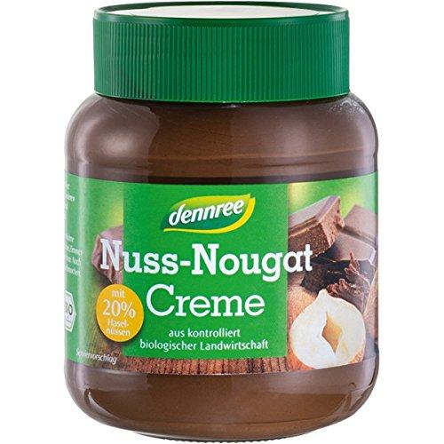 dennree Nuss-Nougat-Creme mit 20% Haselnüssen (400 g) - Bio