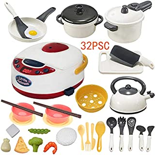 Kitchen Toy Cookware set - 32Pcs Pretend Kitchen Play Toys,Kitchen Set for Kids,Cooking Play Set,Learning Toys for 2 3 4 Years Old Girls, Boys