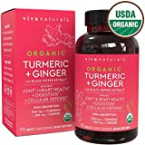 Organic Turmeric Curcumin Supplement + Ginger Extract & Black Pepper for Better Absorption, High Potency Tumeric Ginger Tablets for Joint Support, Digestive Health With Powerful Antioxidant Protection