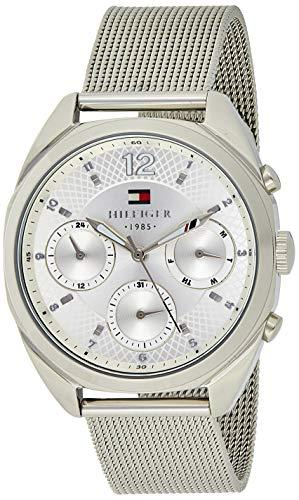 Tommy Hilfiger Reloj Analógico para Mujeres de Cuarzo con Correa en Acero Inoxidable 1781628