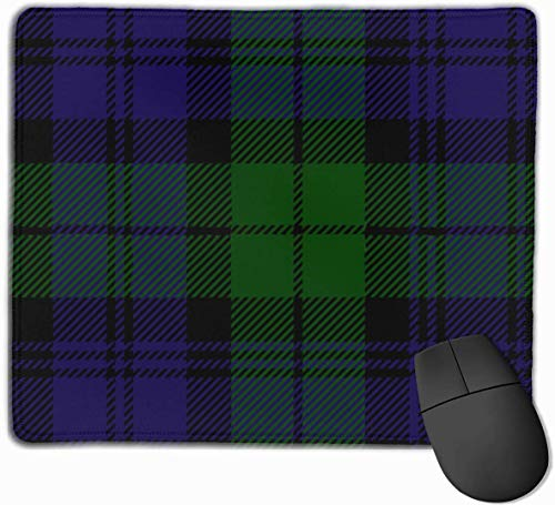 HJJL Mauspad Mouse Pad Black Watch Tartan Plaid Mousepad Non-Slip Rubber Gaming Mouse Pad Rectangle Mouse Pads for Computers Laptop 9.84X11.8 inch
