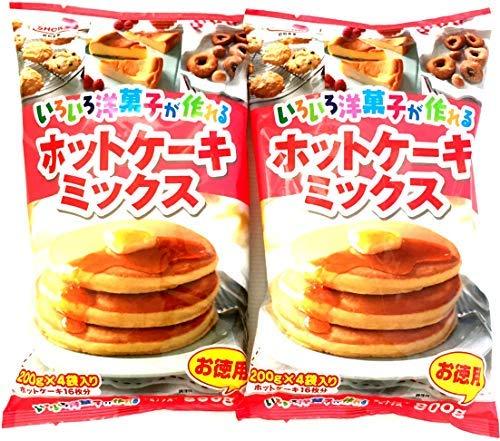 【まとめ買い】昭和産業 (SHOWA) いろいろ洋菓子が作れるホットケーキミックス 800g(200g×4袋)×2袋入【入り数2】
