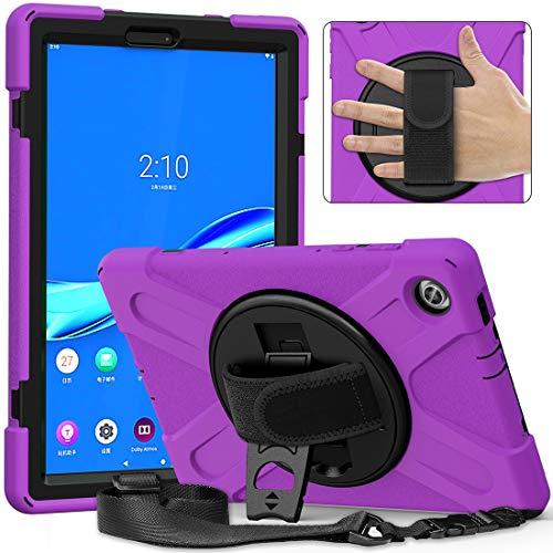 Funda de piel para Tablet PC Serie pirata Three-One Resistente a la rotura FORLENOVO TAB M10 PLUS X606F / 606X, a prueba de gota, resistente al polvo, a prueba de golpes, soporte de agarre multifunció