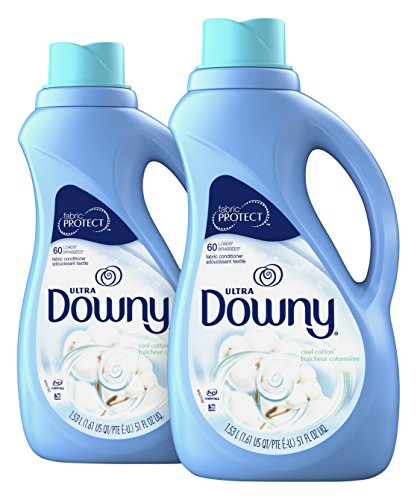 Downy Ultra Cool Cotton Liquid Fabric Conditioner (Fabric Softener) 51 Fl Oz (Pack of 2)