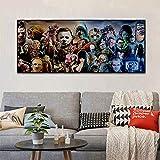 YuanMinglu Película de Terror Personaje Grupo impresión de póster Sala Imagen de la Pared Arte de...