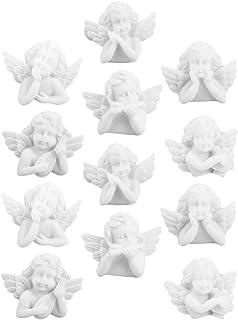 EXCEART 30 Pièces Miniature Figurine Ange Baroque Style Flatback Résine Anges Embellissements Bricolage Scrapbooking Artis...