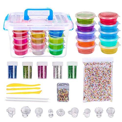 mousse /& /& Le twiddlers 100 PIECES Slime Making Kit SetPerles de cristal paillettes