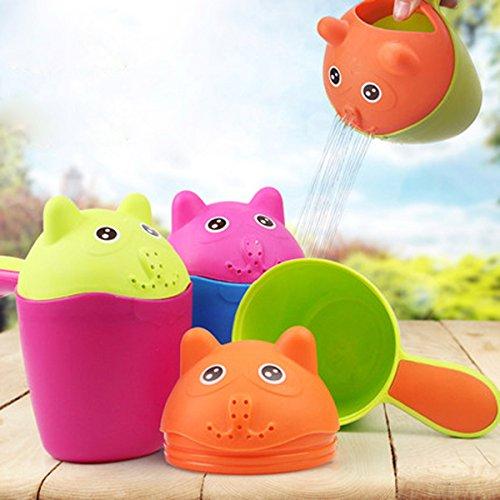 Vvcare BC-K58 Plastic Baby Kinderen Leuke Kat Shampoo Cup Kleurrijke Bad Douchekop Baby Waskop