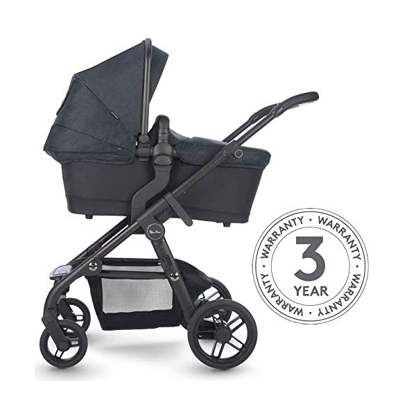 Silver Cross Coast Fully Adjustable 2-In-1 Baby Pram and Pushchair, Newborn to Toddler, With Accessories – Flint Silver Cross Newborn to toddler: Suitable from birth up to 6 months using the carrycot, and from 6 months to 25 kg with the pushchair seat attachment Strong and lightweight: Silver Cross high quality durable magnesium chassis weighs just 10.2kg, perfect for every trip, with 4-way independent wheel suspension and puncture proof tyres Compact: Quick and easy to fold down for transport and storage with a total of 27 clever configurations (Dimensions: L92-112 cm W60 cm H91-107 cm, folded: L94 cm W60 cm H34 cm) 5