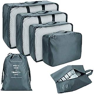 السفر التعبئة مكعب 6 قطع خفيفة الوزن الأمتعة التعبئة المنظمات حقائب للسفر حقيبة