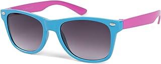 styleBREAKER Kids Nerd Lunettes de soleil avec monture en plastique et verres en polycarbonate, design rétro classique 090...