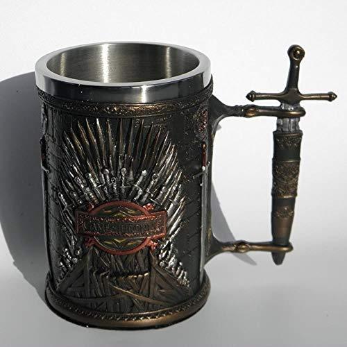 HAOSHA roestvrij staal hars 3D bier middeleeuws glas wijnglas Thron spel mok koffiemok glas wijnglas