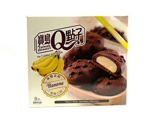 Taiwan Dessert - Galletas Rellenos De Crema De Mochi Con Sabor A Platano 160G